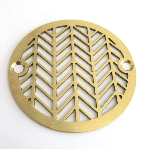 3.25 inch Geometric Wheat Shower Drain