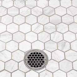 3.25 Hexagon Shower Drain_Designer Drain