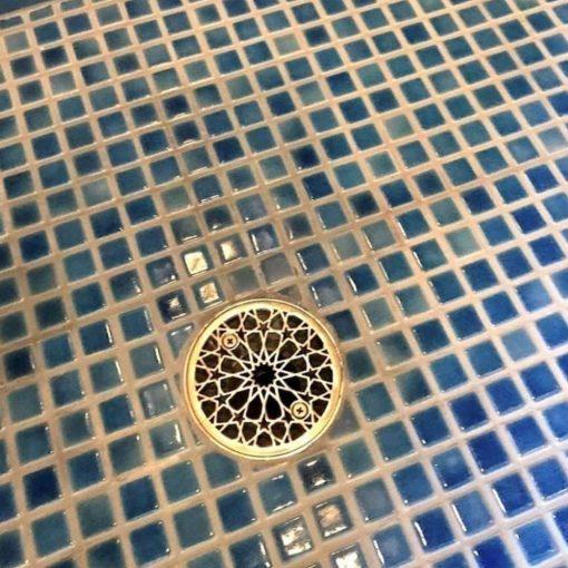 3.25 Round Shower Drain Cover Architecture Moresque No. 2
