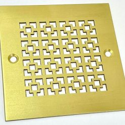 4-Inch-Square-Shower-Drain-Geometric-No.-1-Brushed-Brass.