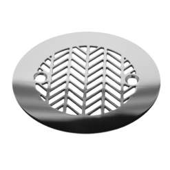 "Geometric Wheat No. 2™ |4.25"" Round Replacement For Sioux Chief 821-2PPK PVC & 821-200A ABS, round stainless shower drain"