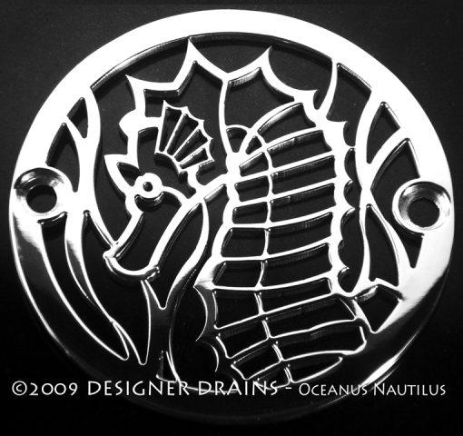 Designer Drains - 3.25 Oceanus Sea Horse