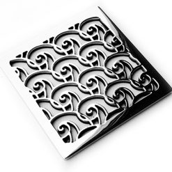 Designer-Drains-Oceanus-Waves - Square Shower Drains