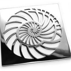 Designer Drains Nautilus Square Shower Drain Oceanus Nautilus