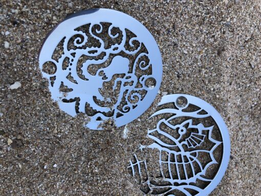 octopus and sea horse 3.25 inch diameter shower drain