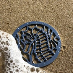 Designer Drains - 3.25 Sea Horse on the beach