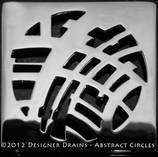 EBBE Drains Replacement Square Drain Cover - Abstract Circles