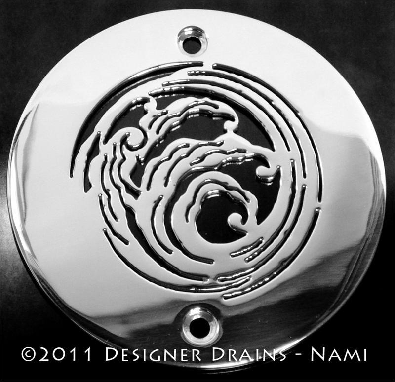 4inch Round Shower Drains Elements Nami Designer Drains