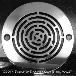 Geometric Series - Round Decorative Shower Drains