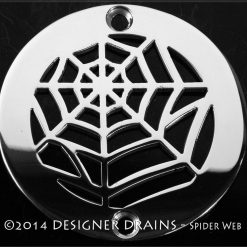 round spider web shower drain
