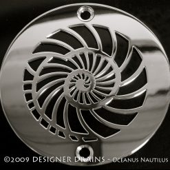 4 Inch Round nautilus Shower Drain Cover