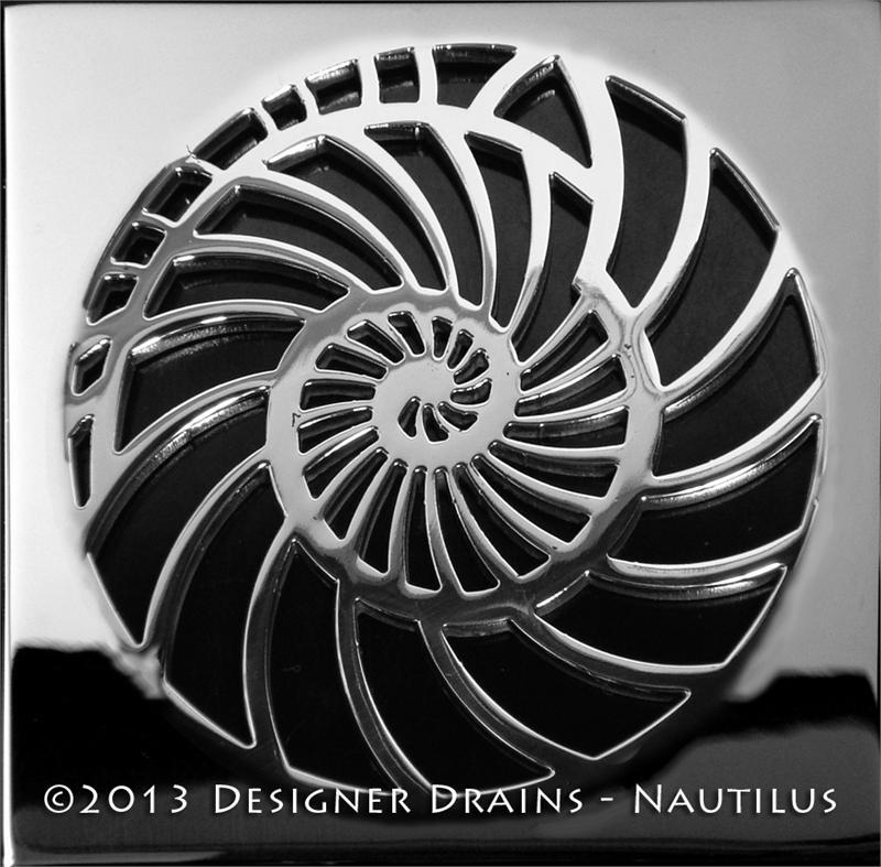 Oceanus Nautilus Shower Drain Designer Drains