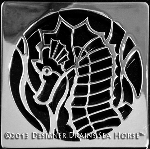 Sea Horse Square Shower Drain
