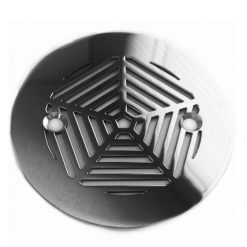Geometric Pentagon 4.25 Round Shower Drain