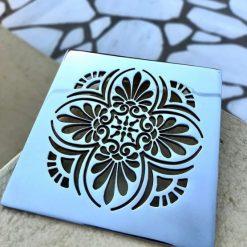 Greek Anthemion_Designer Drains_Square Drain
