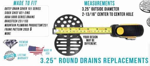 "how to measure a 3.25"" drain"