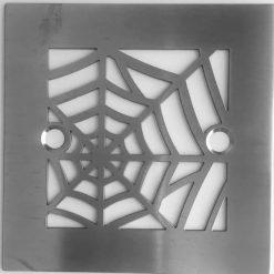 Nature Spider Web 4.25 Square Shower Drain