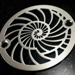 Nautilus Shower Drain_3.25 Inch Round_Designer Drains