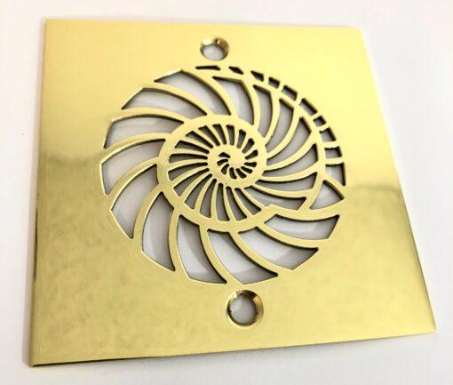 Nautilus Square Shower Drain_Designer Drains_Brass