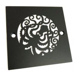 Octopus Square Drain_Matte Black