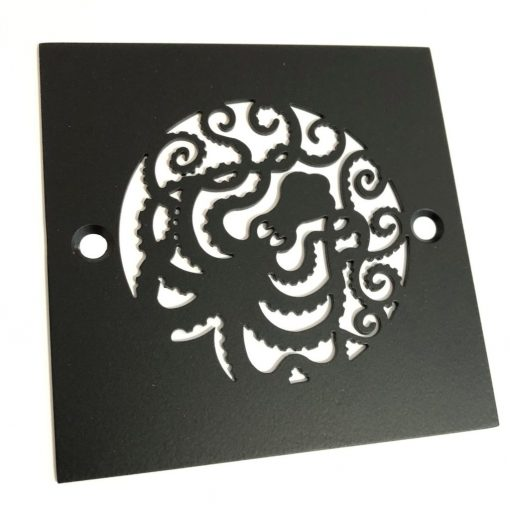 Octopus Square Drain_Matte Black