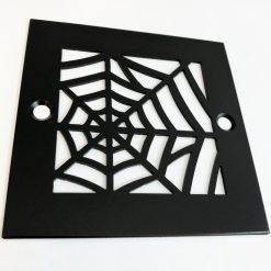 Spider Web_4.25 Inch Square Shower Drain_Matte Black