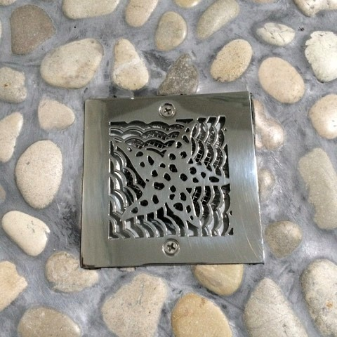 Oceanus Starfish™   Replacement For Square Stainless Steel Shower Drain for Oatey 42238 & 42237 replacements roughs.