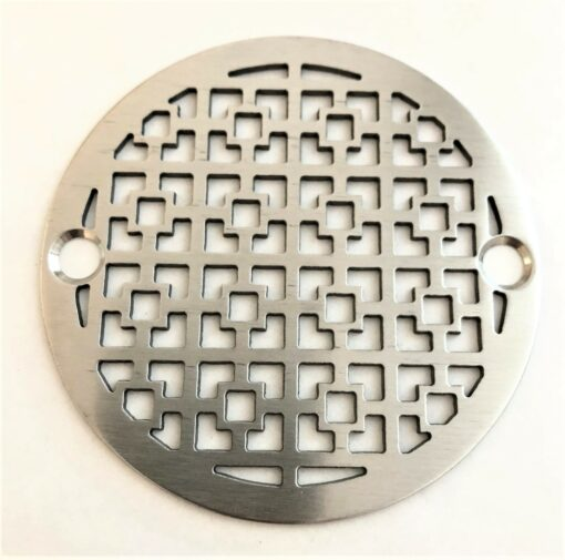 3.25 inch round stainless shower drain