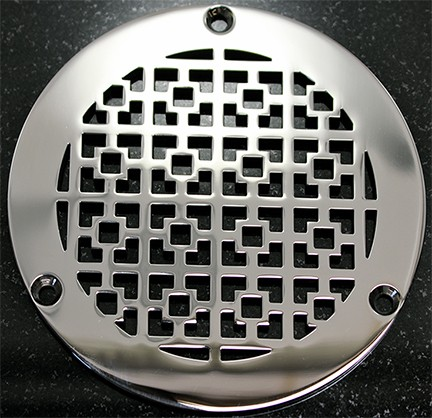 "Geometric Squares No. 1™ Round Shower Drains | 5"" Round Replacement For ZURN"