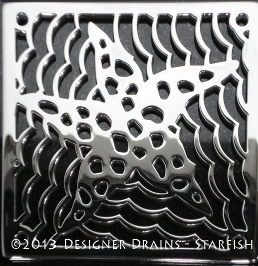 Star fish shower drain by designer drains
