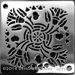 Designer Drains - Lotus Design Shower Drain