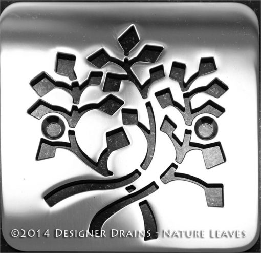 Nature Leaves stainless steel shower drain