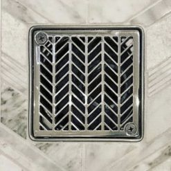 Geometric Wheat No. 2™ | Replacement For Kerdi-Schluter, squar stainless steel shower drain