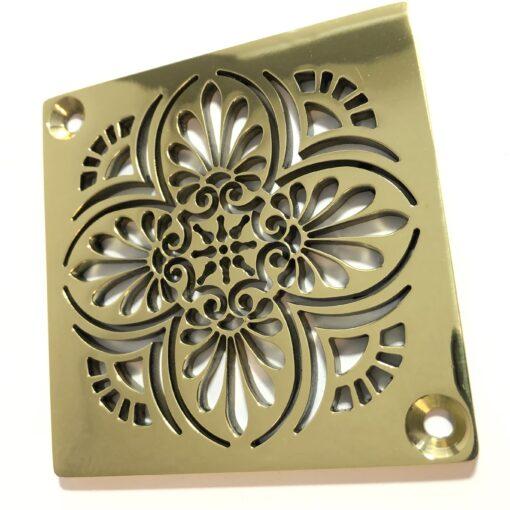 Greek ANthemion_Square Polished Brass