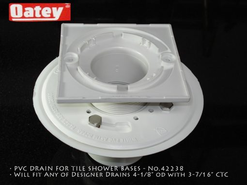 "Oatey PVC, 4.1875"" Square with 3-3/8""CTC"
