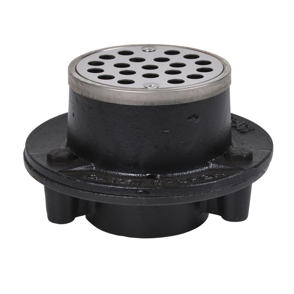 Cast Iron Sioux Chief 3 25 Round Shower Drain For Hot Mop