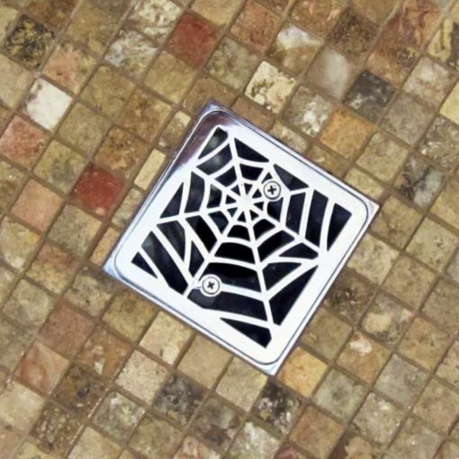 Spider web designer drains shower drain for kohler