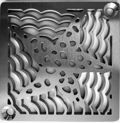 Star Fish_Schluter_Brushed Stainless_Square Shower Drains