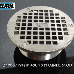 Zurn Z400b Round Drain rough in