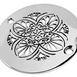Greek anthemion 4 inch round shower drain