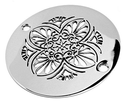 Greek anthemion 4 inch round shower drain