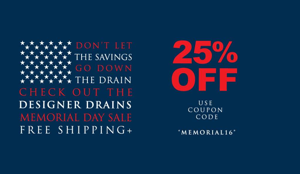 Memorial Day Ad Web Banner 2 Designer Drains