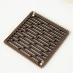 Roman Bricks_Kerdi Schluter Square Drain_Designer Drains_Oiled Rubbed Bronze