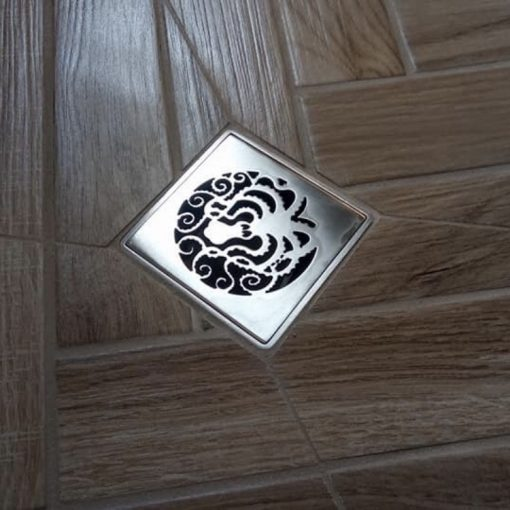 Octopus Shower Drain, Replacement For Wedi, square shower drain