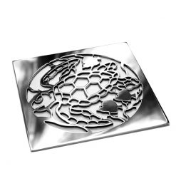 Sea Turtle - Oceanus Caretta™ , Replacement For Wedi , Square stainless steel shower drain
