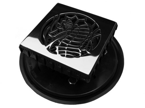 ebbe square drain body with sea horse shower drain