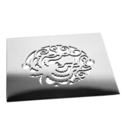 425 inch square oceanus octopus polished stainless shower drain