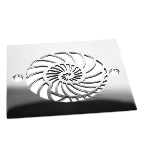 Nautilus shower drain, square stainless steel shower drain
