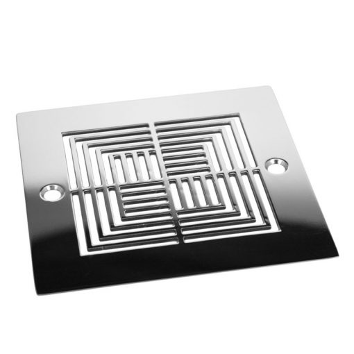 Geometric Illusions_Shower Drain Replacement For Square Shower Drain_Polished Stainless
