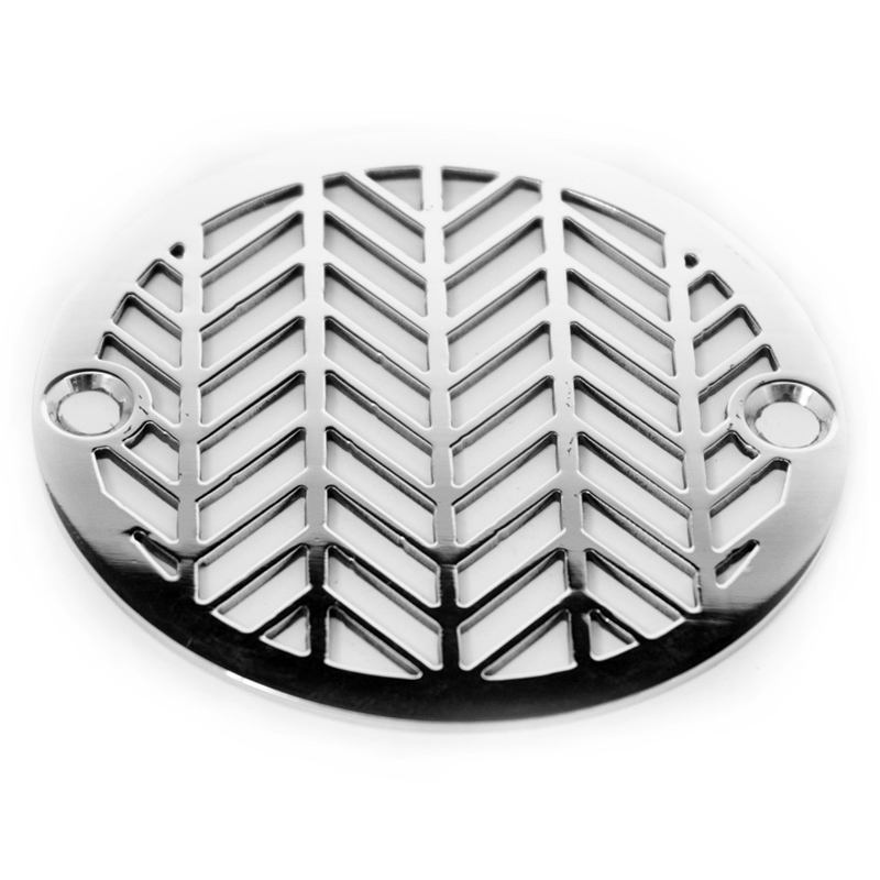Outdoor Drain 3inch Round Drain | Geometric Wheat No. 2™ | Designer Drains